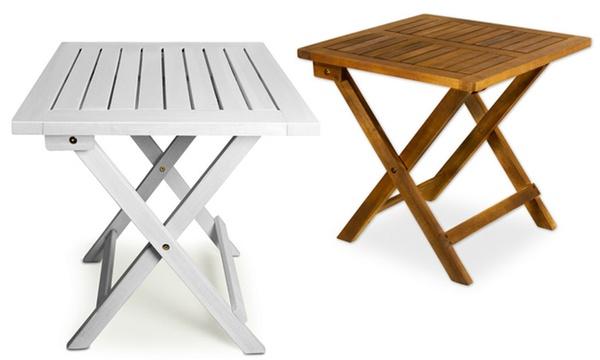 table d appoint pliante 46 x 46 cm couleur bois ou blanche a 24 90 livraisonofferte