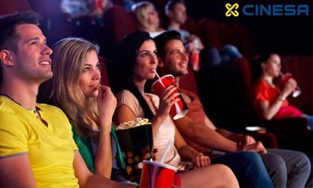 Entrada de cine en Cinesa para Madrid y Barcelona, resto de península, Baleares y Canarias