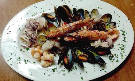 Menu di pesce con calice di vino per 2 o 4 persone al Ristorante Pizzeria San Gervasio (sconto fino a 65%)