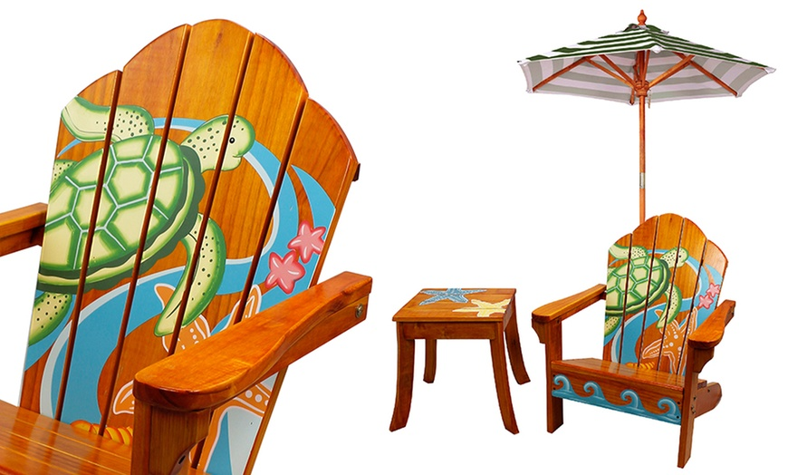 winland kids outdoor table chair and umbrella set