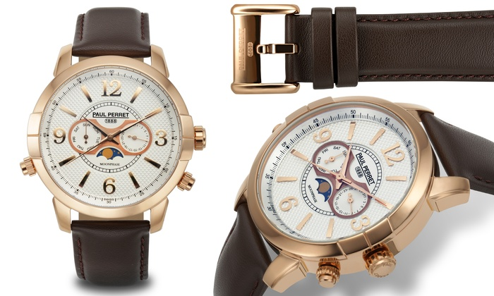 Moonphase Mens Swiss Watch Groupon Goods