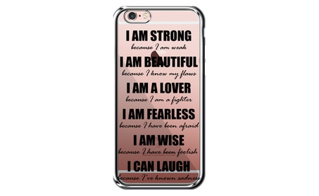 I am Strong Because I am Weak ,Beautiful Quote  Desinged case. - Chrome / iPhone 7