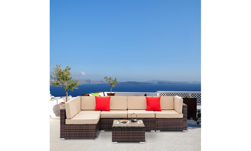 outdoor sectional sofa all weather patio furniture sets 7 pieces
