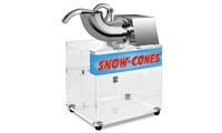 Costway Electric Snow Cone Machine Ice Shaver Maker Dual BladesThis is our high-quality Electric Snow Cone Machine.Equipped with Acrylic case housing,it keeps the shaved ice cool. Dual blades provides double efficiency comparing to the singe blade machines.It is suitable for restaurants, bars, canteens, snack stands, parties, home gatherings, etc. 201 Stainless Steel ConstructionAcrylic case housing keeps the shaved ice coolDual blades provides double efficiency comparing to the singe blade machinesDrain hole with pipe to release the ice waterWater-resistant on / off switch for safe operationSimple  Convenient OperationPerfect for restaurants, bars, canteens, snack stands, parties, home gatherings, etc.Material:Body.201 stainless Steel+ Acrylic;Blades:430 stainless steelOverall size:16.1'' X 12.6'' X 24.4''(L X W X H)Acrylic box thickness:10mmNet Weight:31.9 lbsVoltage:110V / 60Hz;Power:200WRotated Speed:1400 runs/min;Shaving/Crushing capacity:About 400 LBS per hourPackage includes:1x snow Cone machineCostway Electric Snow Cone Machine Ice Shaver Maker Dual Blades