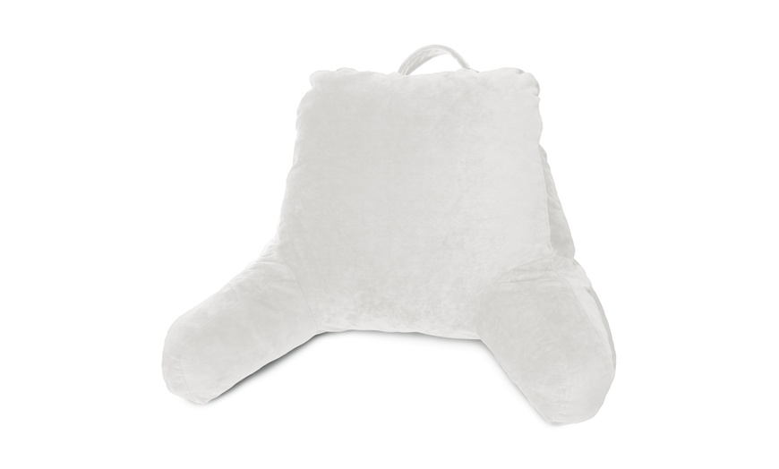 nestl bed rest shredded memory foam reading pillow with arms