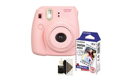 Fuji Instax Mini 8 Fujifilm Instant Film Pink Camera  Bundle