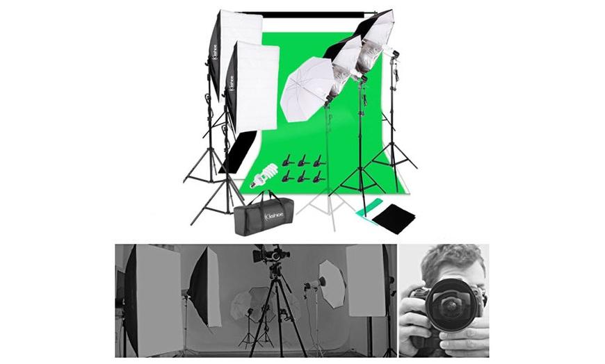 45w adjustable softbox umbrella backdrop stand photography lighting kit