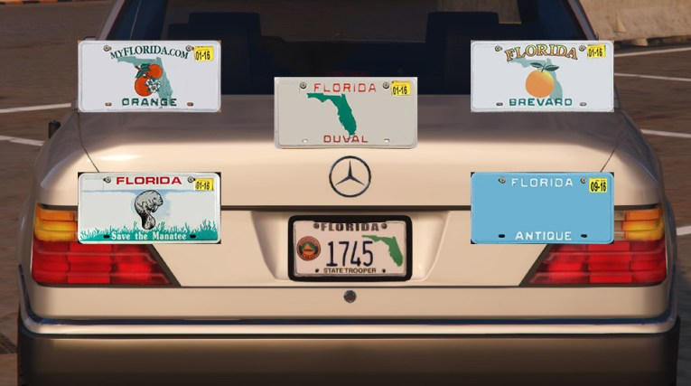 Florida License Plate Pack   GTA5 Mods com Bb06f0 florida license plate pack