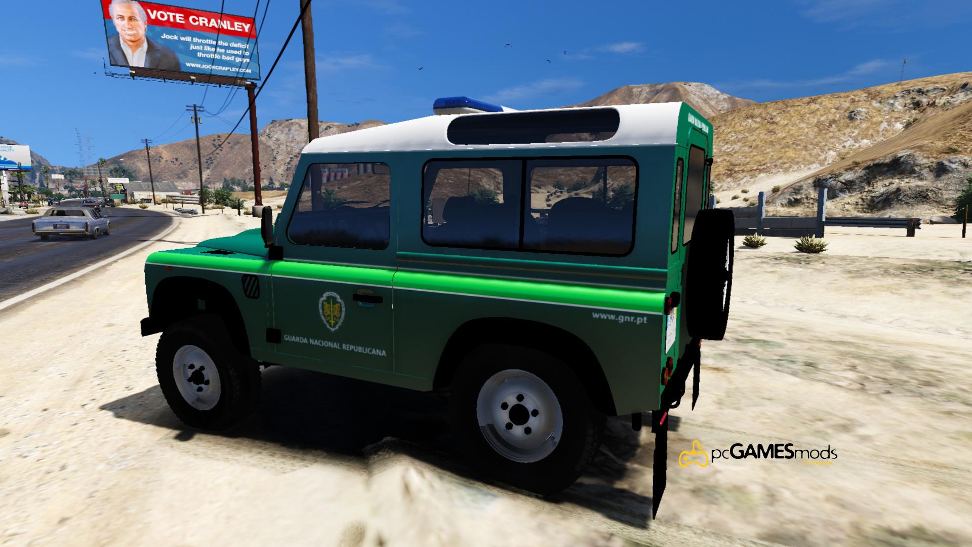 Portuguese Republican National Guard Patrol Land Rover
