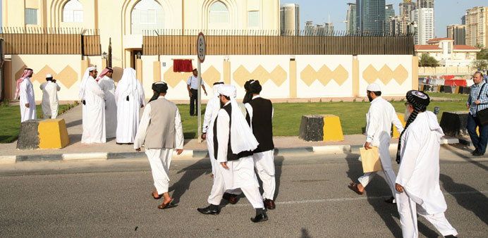 The Taliban office in Doha.-File photo