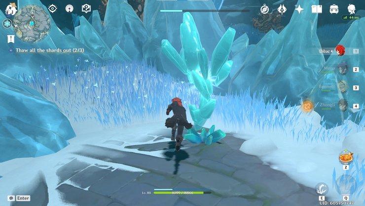 Mountain Ice Shard Min'de