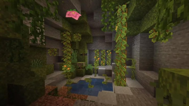 Minecraft Mağaraları ve Kayalıkları Yemyeşil Mağaralar