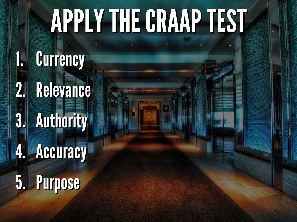 The Craap Test Evaluating Internet Resources By Cindy
