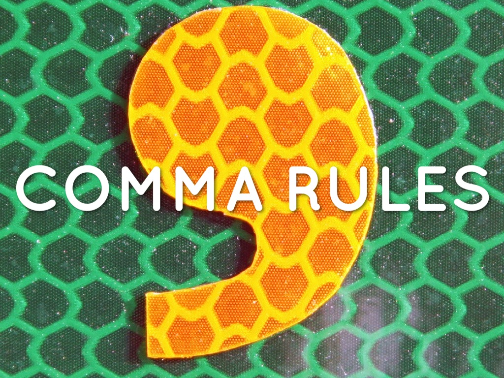 Comma Rules By Amy Haerr