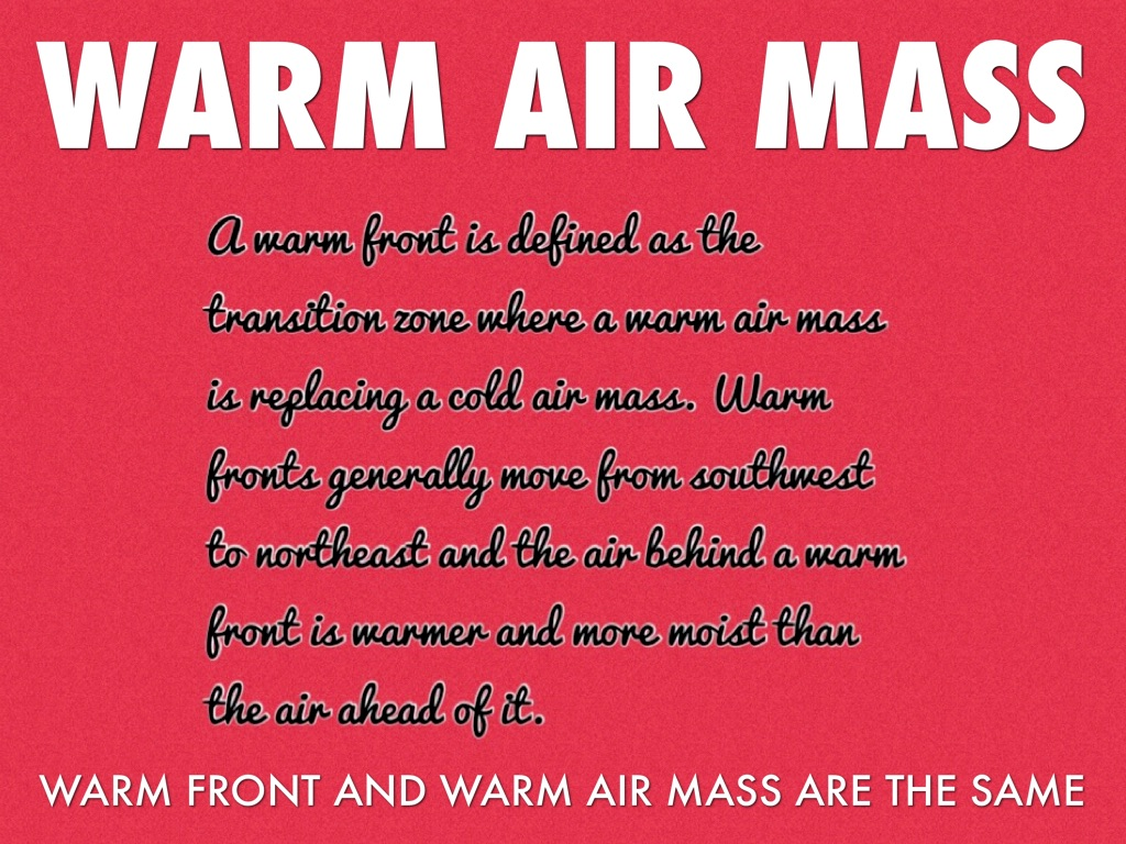Warm Amp Cold Air Masses By Tacora Snell