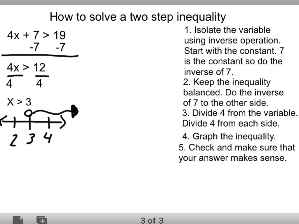 How To Solve Two Step Equations And Inequalities By