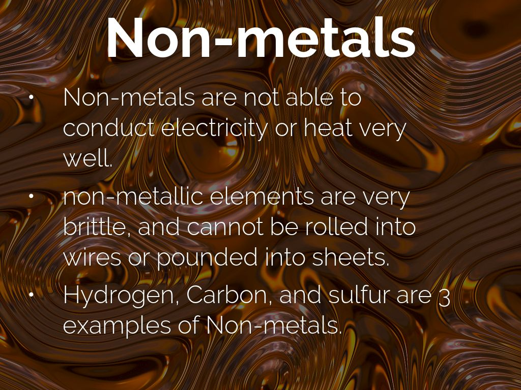 Metals Nonmetals And Metalloids By Rtobin