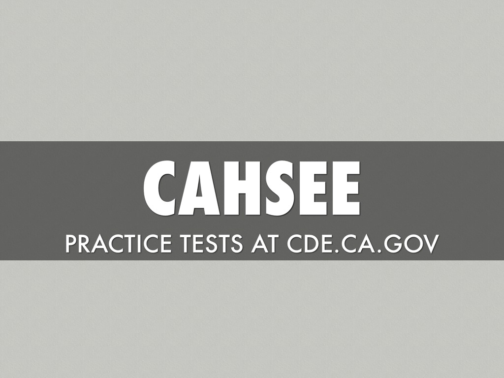 Cahsee Exam Help In La County By Sean Overman