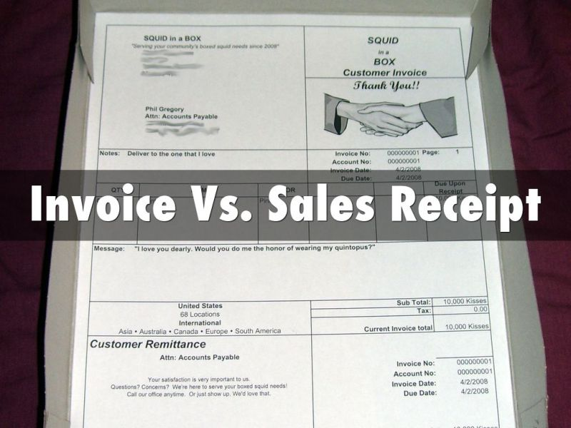 Chapter 2 by Michell Boldt Invoice Vs  Sales Receipt