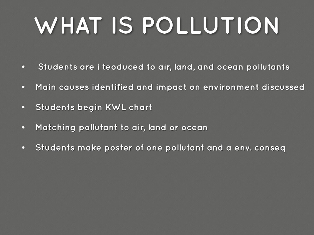 Pollution Unit Overview By Avivagordon