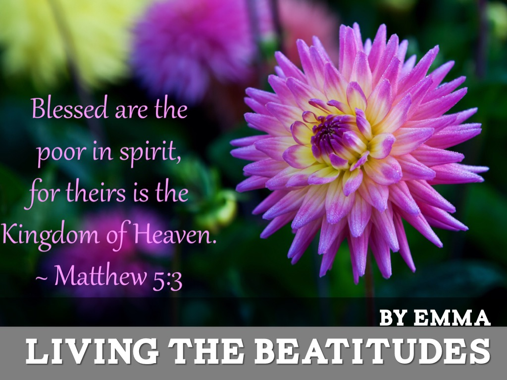 Living The Beatitudes By Emma Carroll