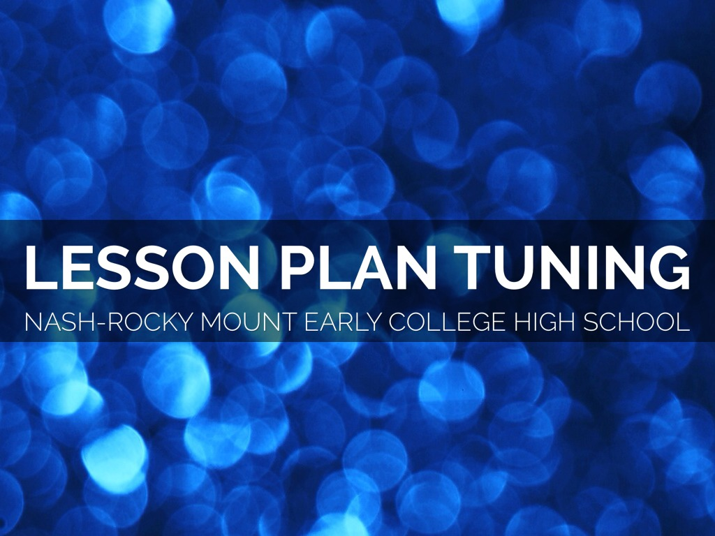 Lesson Plan Tuning By Chris Catalano