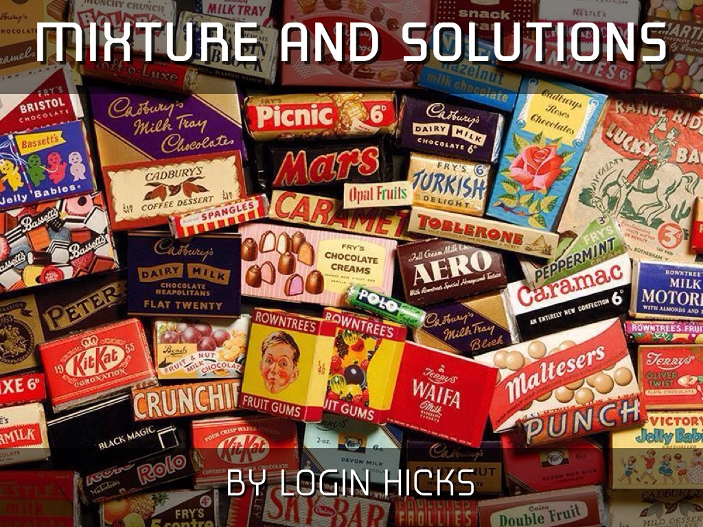 Mixtures And Solutions By Login Hicks