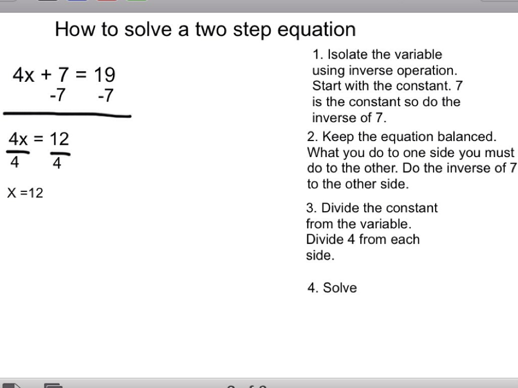 Worksheet One And Two Step Equations Grass Fedjp