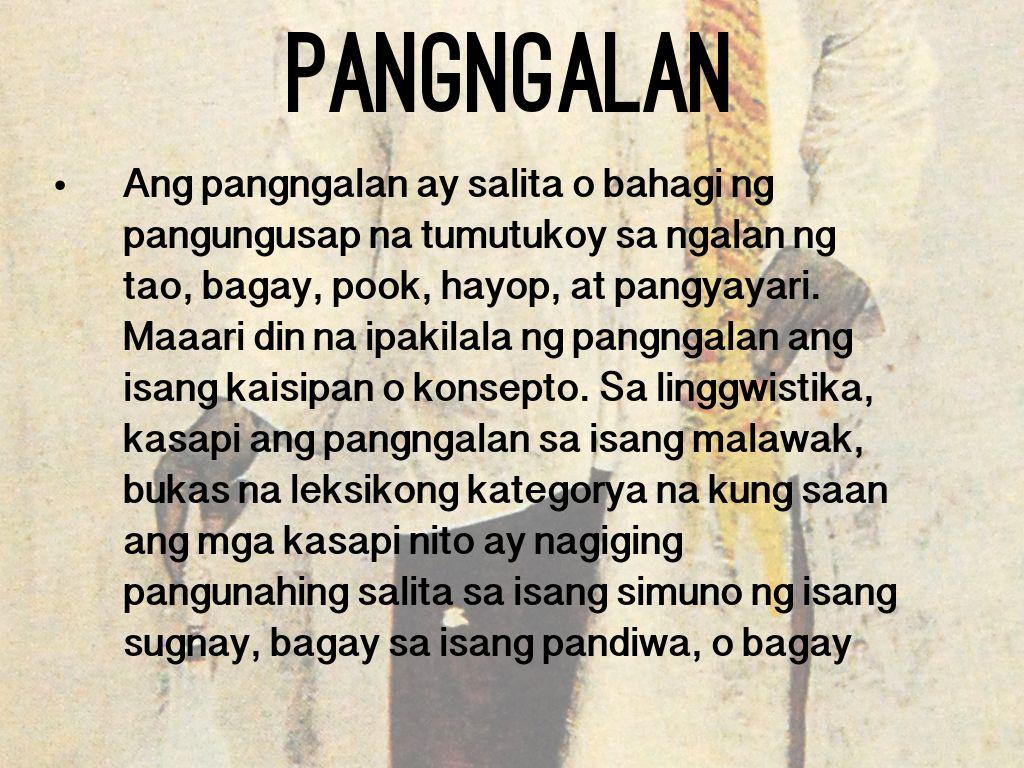Pangngalan By Abegail Songcuan