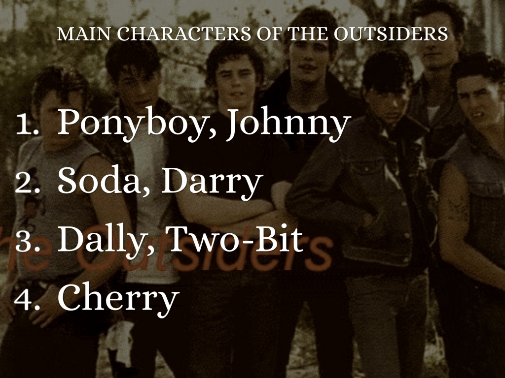 The Outsiders Book Characters Who Are The Main Characters