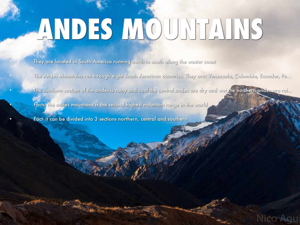 the Andes Mountains Chile South America