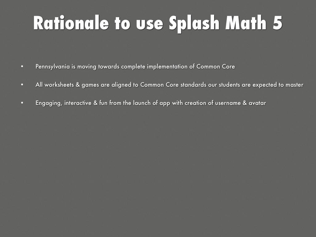 Splash Math 5 By Amanda Gimber