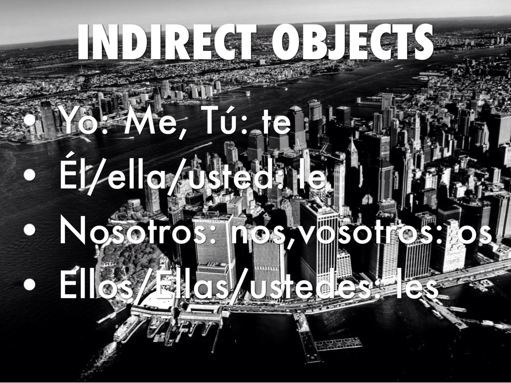 Spanish Presentation Direct And Indirect By