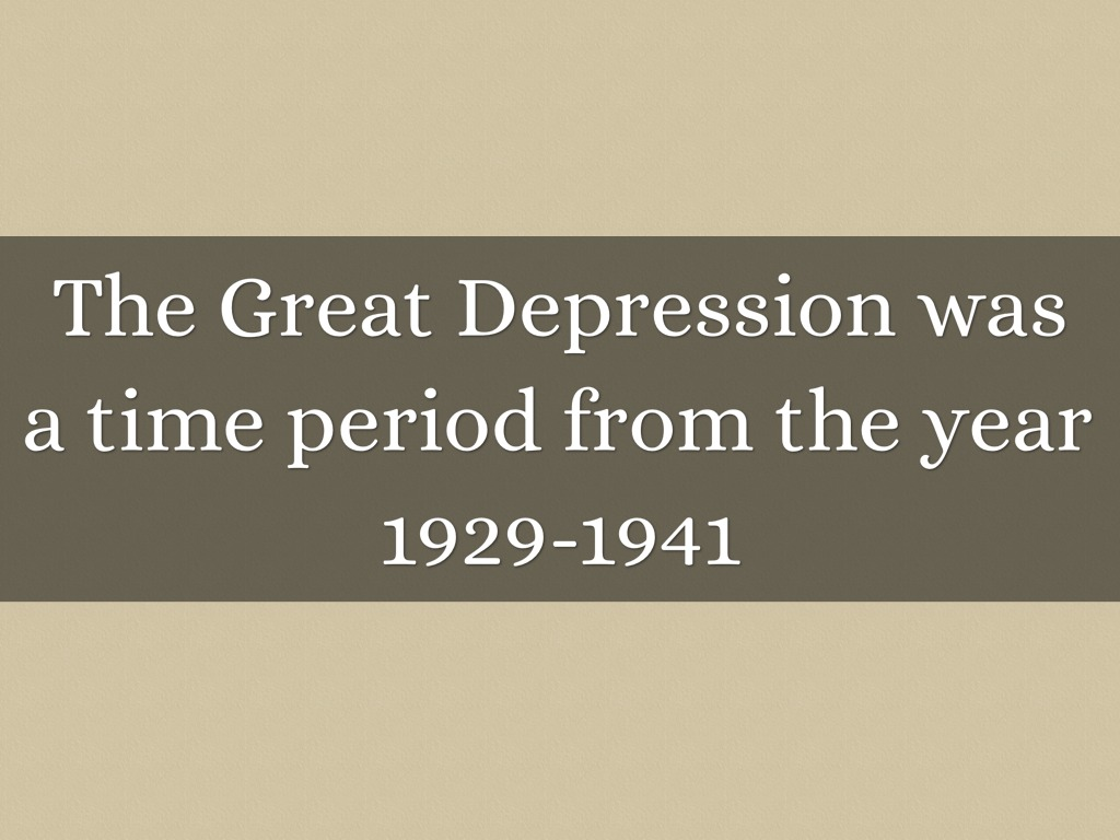 Great Depression By Kenji Moss