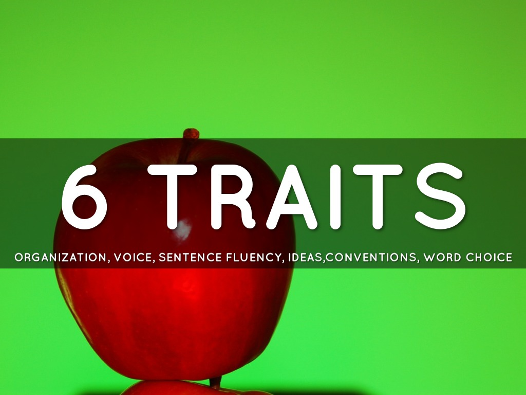 6 Traits Conventions Voice Sentence Fluency Word