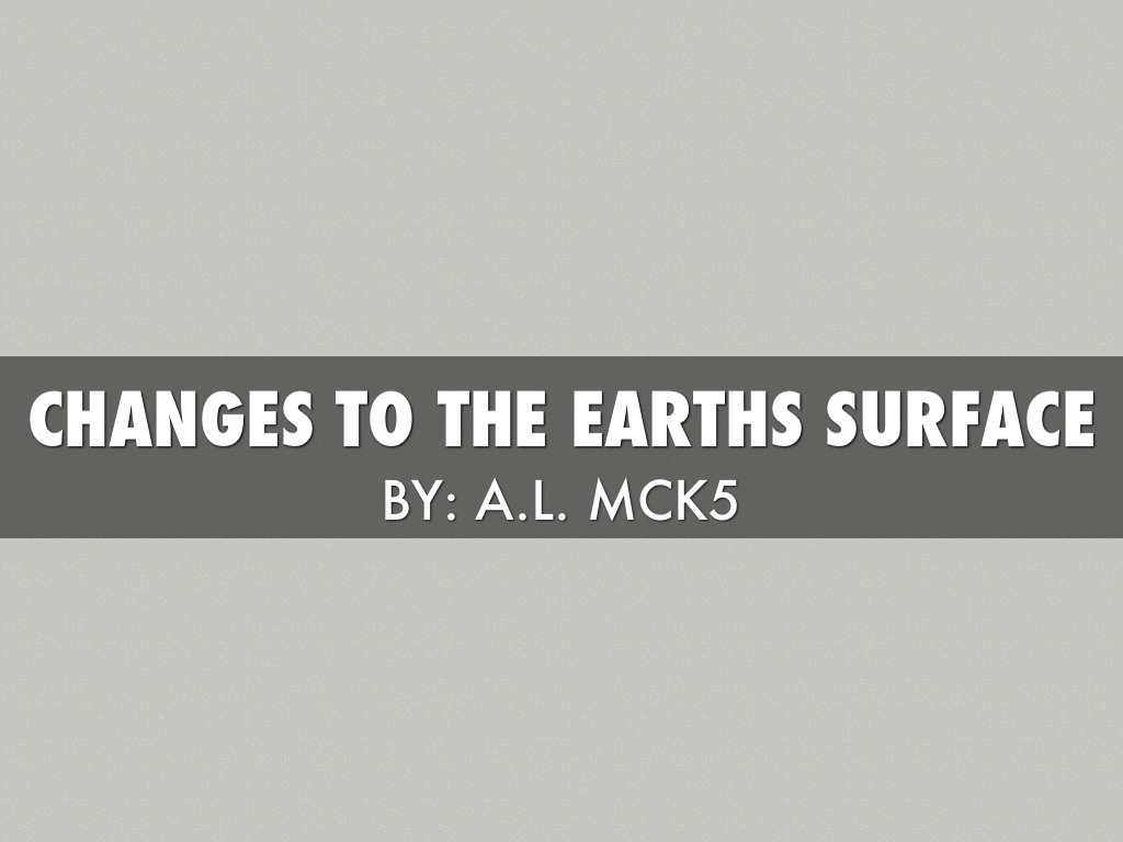 Earth S Changes To The Surface By Mrs Mckinnon