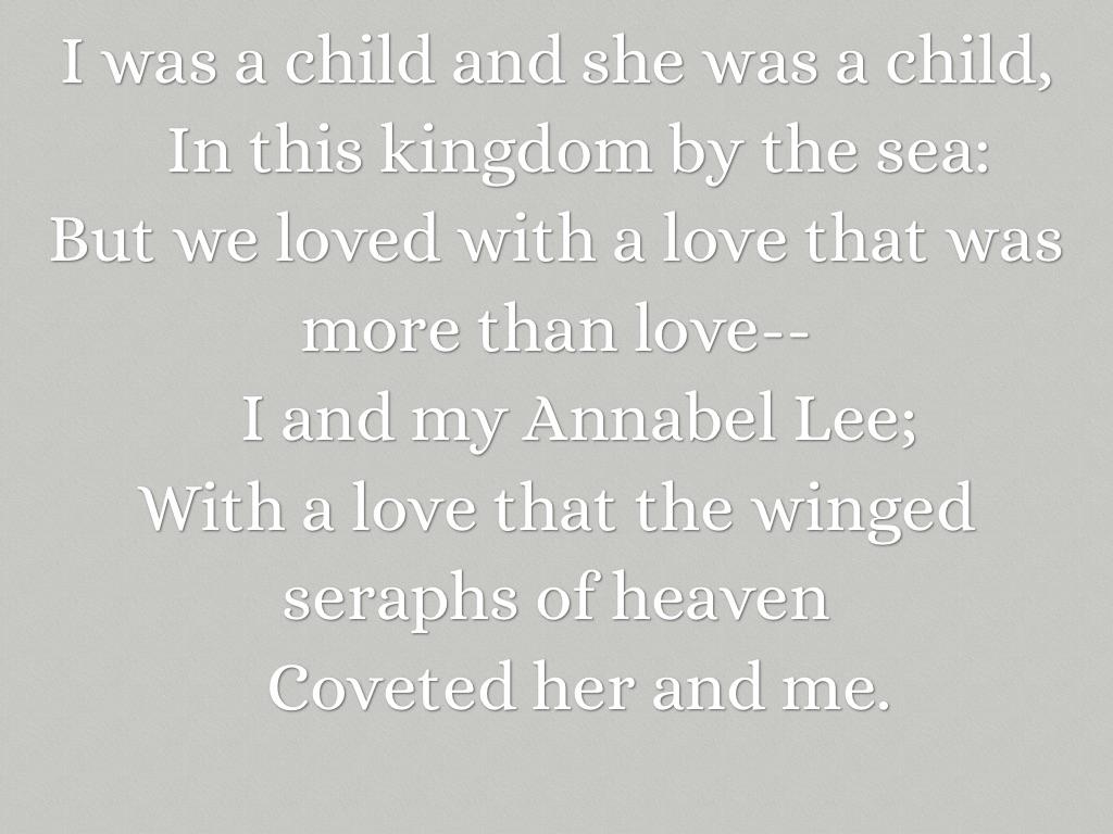Poema Annabel Lee Edgar Allan Poe