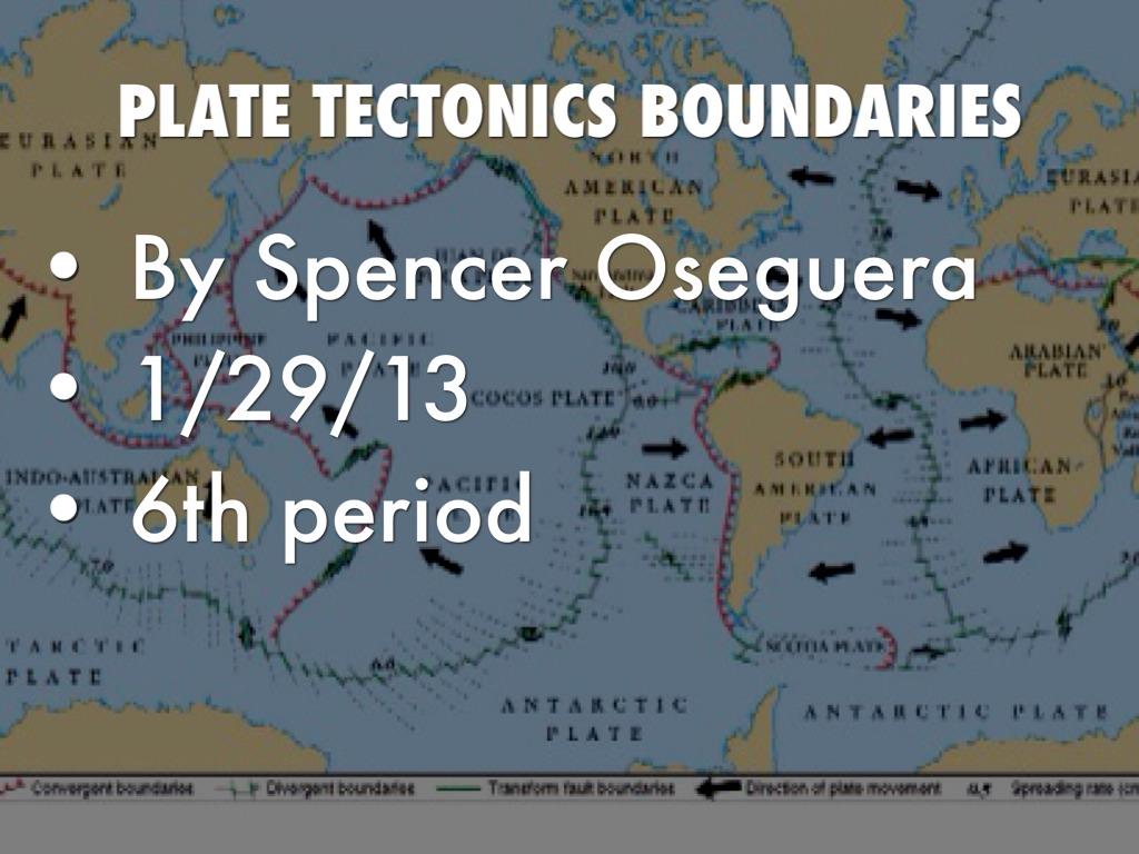 Plate Tectonics Boundaries By Spencer Oseguera