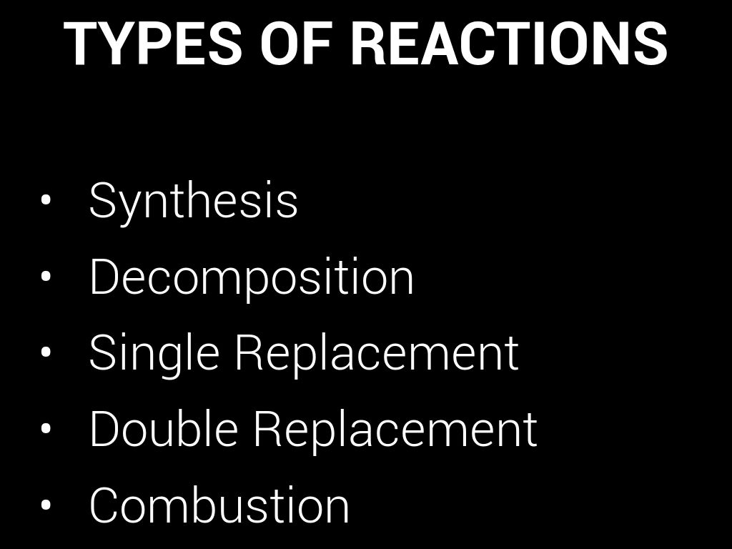 Chemical Reactions Key Concepts By Avasquez