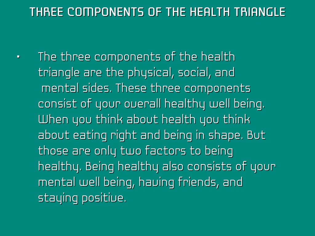 3 Components Of The Health Triangle By Meirarsody