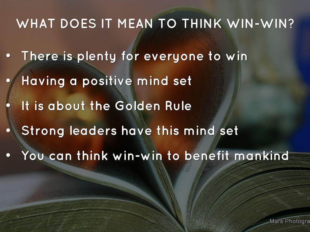 Habit 4 Think Win