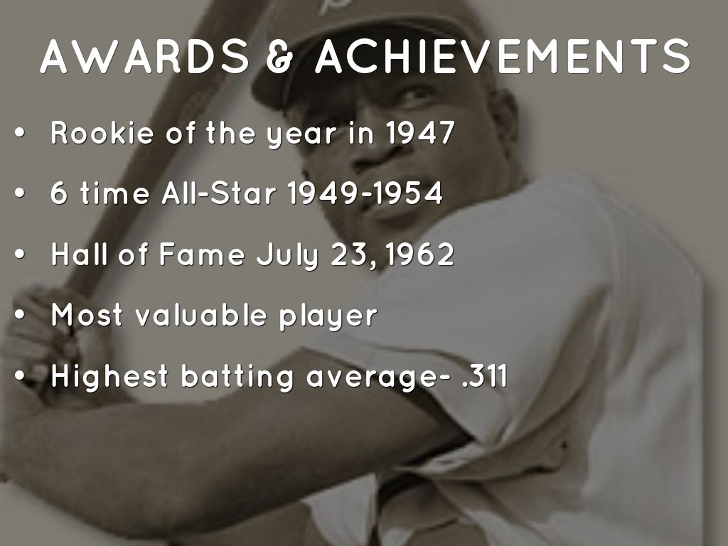 What Were Jackie Robinson Accomplishments Jackie