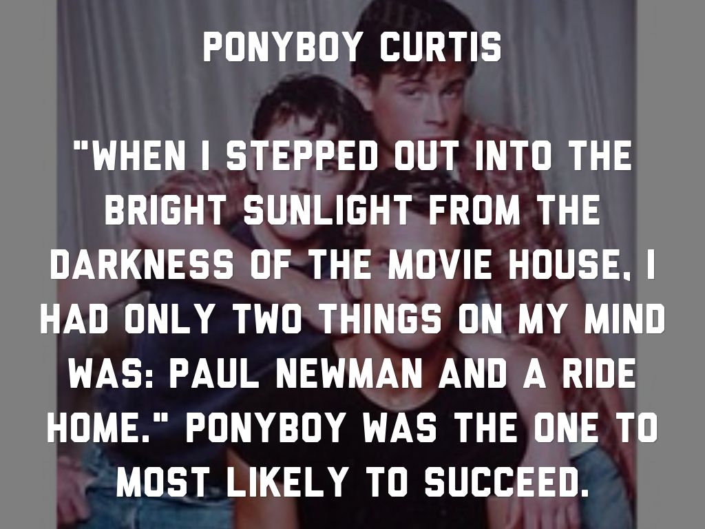 ponyboy description