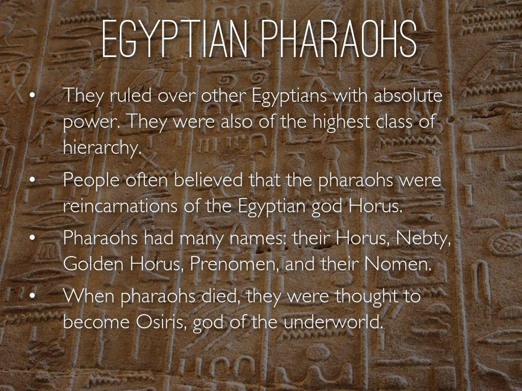 Ancient Egyptian Pharaohs By Ingib