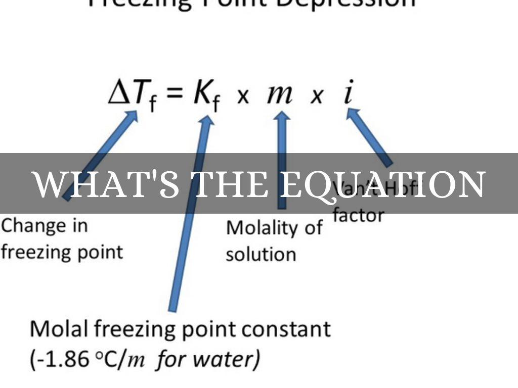 Freezing Point Depression Formula