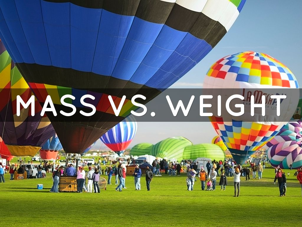 Copy Of Mass Vs Weight By Sarahmcclure