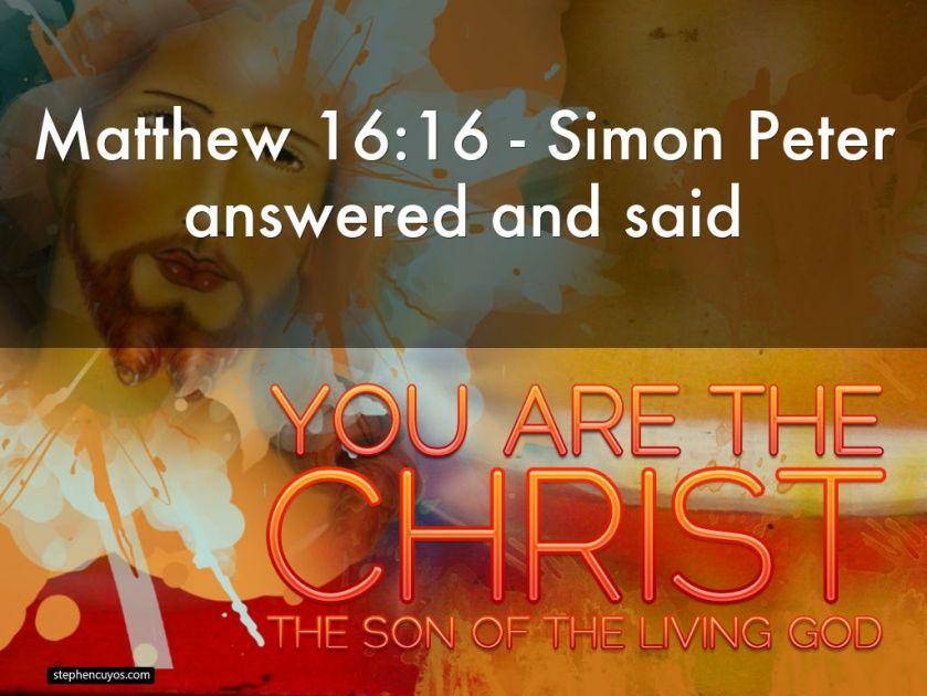 Hasil gambar untuk matthew 16:16