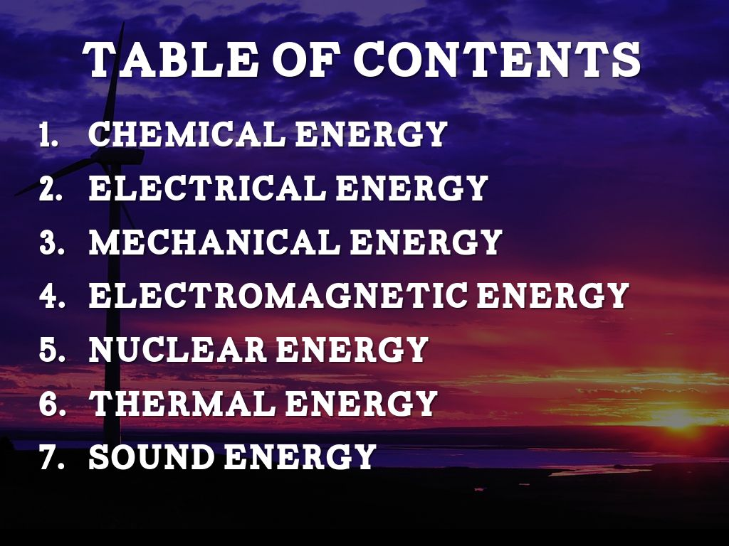 The 7 Types Of Energy By Joshua Cho