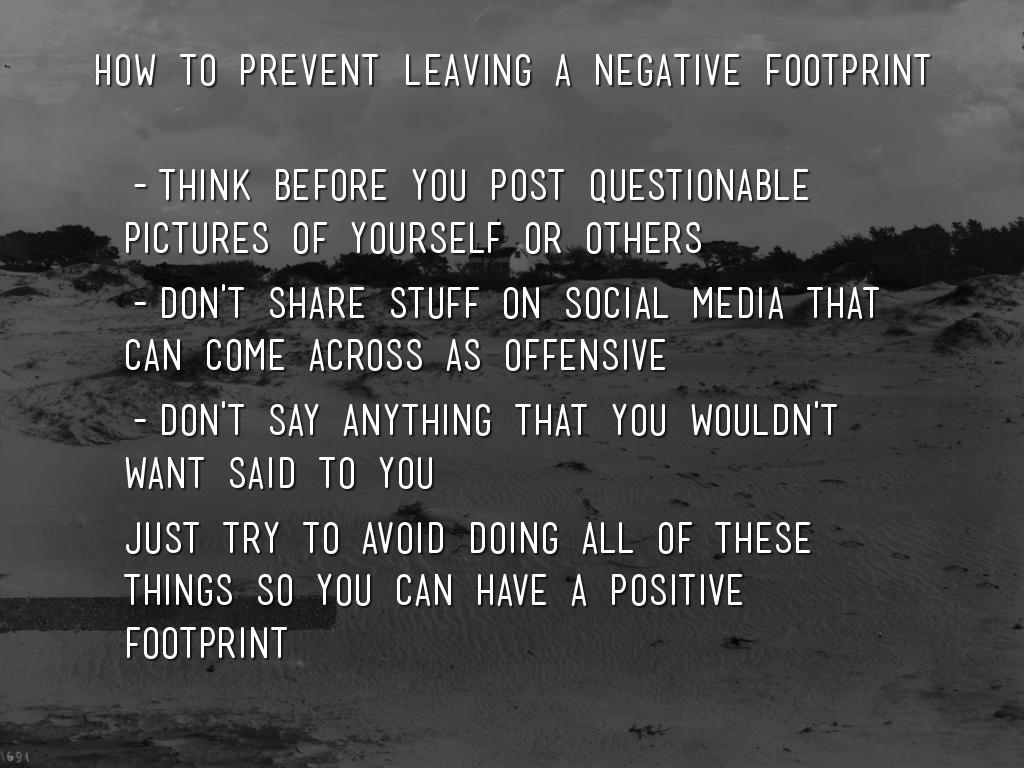 What Is A Negative Digital Footprint