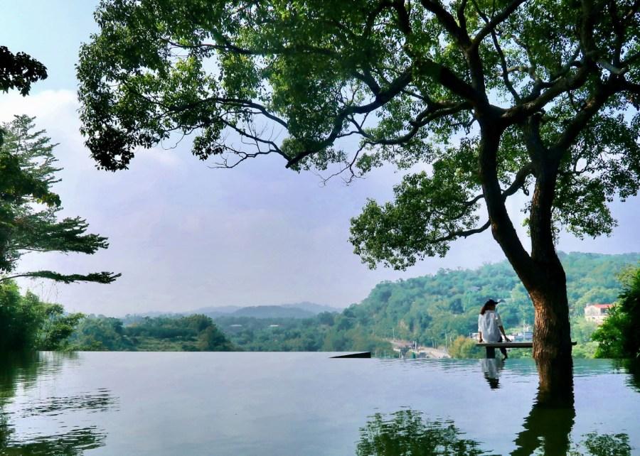 新竹景觀餐廳/峨眉二泉湖畔咖啡,沉靜在恬靜湖畔的美麗風光!